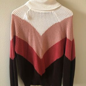 Multi-Color long sleeve turtle neck